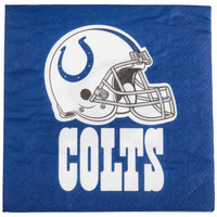 Creative Converting 669534 Indianapolis Colts 2-Ply Luncheon Napkin - 192/Case