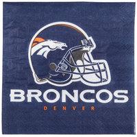 Creative Converting 669510 Denver Broncos 2-Ply Luncheon Napkin - 192/Case