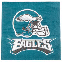 Creative Converting 669524 Philadelphia Eagles 2-Ply Luncheon Napkin - 192/Case
