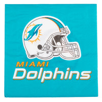 Creative Converting 669517 Miami Dolphins 2-Ply Luncheon Napkin - 192/Case