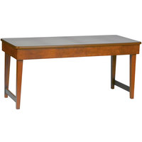 Bon Chef 50053 30 inch x 72 inch Rectangular Contemporary Wooden Folding Banquet Table