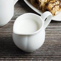Villeroy & Boch 16-3318-0800 La Scala 3.3 oz. White Porcelain Creamer - 6/Case