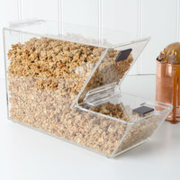 Choice Stackable Candy / Topping Dispenser with Notch - 11 inch x 4 inch x 7 inch