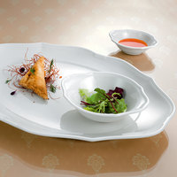 Villeroy & Boch 16-3318-3930 La Scala 5 oz. White Porcelain Oval Bowl - 6/Case