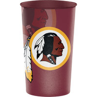 Creative Converting 119532 Washington Redskins 22 oz. Plastic Souvenir Cup - 20/Case