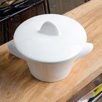 Villeroy & Boch 16-3275-2515 Marchesi 4.75 oz. White Porcelain Soup Cup with Lid - 6/Case