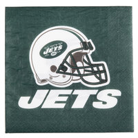 Creative Converting 669522 New York Jets 2-Ply Luncheon Napkin - 192/Case