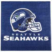 Creative Converting 669528 Seattle Seahawks 2-Ply Luncheon Napkin - 192/Case