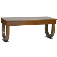 Bon Chef 50057 30 inch x 96 inch Rectangular Arched Wooden Folding Banquet Table