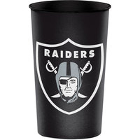 Creative Converting 119523 Oakland Raiders 22 oz. Plastic Souvenir Cup - 20/Case