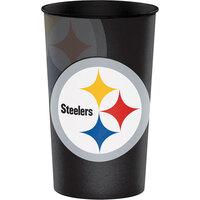 Creative Converting 119525 Pittsburgh Steelers 22 oz. Plastic Souvenir Cup - 20/Case