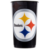 Creative Converting 119525 Pittsburgh Steelers 22 oz. Plastic Souvenir Cup - 20/Case