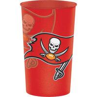 Creative Converting 119530 Tampa Bay Buccaneers 22 oz. Plastic Souvenir Cup - 20/Case
