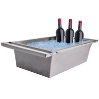 Clipper Mill by GET SSTUBREC-01 26 1/2 inch x 16 inch Stainless Steel Double-Walled Beverage Tub