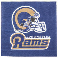 Creative Converting 321461 Los Angeles Rams 2-Ply Luncheon Napkin - 192/Case