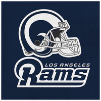 Creative Converting 335914 Los Angeles Rams 2-Ply Luncheon Napkin - 192/Case