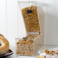 Choice Stackable Candy / Topping Dispenser with Notch - 11 inch x 4 inch x 11 inch