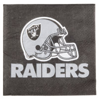 Creative Converting 669523 Oakland Raiders 2-Ply Luncheon Napkin - 192/Case
