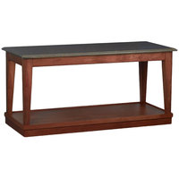 Bon Chef 4RSTRE-CE 30 inch x 72 inch Rectangular Espresso Wooden Banquet Table with Dark Cherry Finish