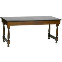 Bon Chef 50054 30 inch x 72 inch Rectangular Tavern Style Wooden Folding Banquet Table