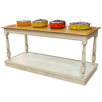 Bon Chef 50177 30 inch x 72 inch Rectangular Country Style Mobile Table