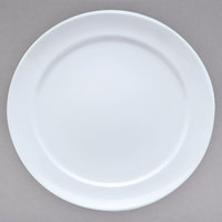 Villeroy & Boch 16-3275-2797 Marchesi 11 1/4 inch White Porcelain Flat Plate with 8 1/2 inch Well - 6/Case