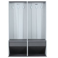 Lifetime 60226 Outdoor Double Locker with Storage Benches