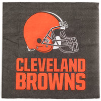 Creative Converting 316655 Cleveland Browns 2-Ply Luncheon Napkin - 192/Case