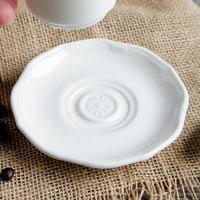 Villeroy & Boch 16-3318-1460 La Scala 4 3/4 inch White Porcelain Saucer - 6/Case