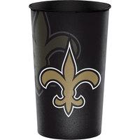 Creative Converting 119520 New Orleans Saints 22 oz. Plastic Souvenir Cup - 20/Case