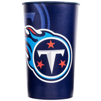Creative Converting 119531 Tennessee Titans 22 oz. Plastic Souvenir Cup - 20/Case