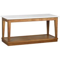 Bon Chef 4RSTRE-AB 30 inch x 72 inch Rectangular Bianco Wooden Banquet Table with Dark Maple Finish