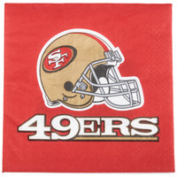 Creative Converting 669527 San Francisco 49ers 2-Ply Luncheon Napkin - 192/Case