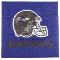 Creative Converting 669503 Baltimore Ravens 2-Ply Luncheon Napkin - 192/Case