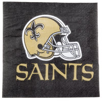 Creative Converting 335915 New Orleans Saints 2-Ply Luncheon Napkin - 192/Case