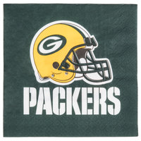 Creative Converting 669512 Green Bay Packers 2-Ply Luncheon Napkin - 192/Case