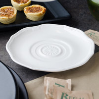 Villeroy & Boch 16-3318-1280 La Scala 6 1/4 inch White Porcelain Saucer - 6/Case