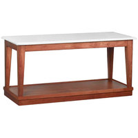 Bon Chef 4RSTRE-BB 30 inch x 72 inch Rectangular Bianco Wooden Banquet Table with Light Cherry Finish