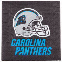 Creative Converting 669505 Carolina Panthers 2-Ply Luncheon Napkin - 192/Case