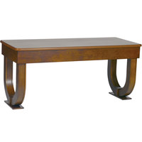 Bon Chef 50055 30 inch x 72 inch Rectangular Arched Wooden Folding Banquet Table