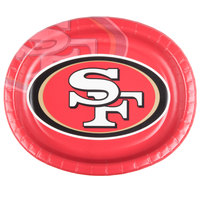 Creative Converting 069527 San Francisco 49ers 10 inch x 12 inch Oval Paper Platter - 96/Case