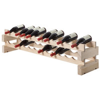 Franmara 4536NSET Modularack Basic 24 Bottle Natural Wooden Modular Wine Rack