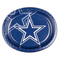 Creative Converting 069509 Dallas Cowboys 10 inch x 12 inch Oval Paper Platter - 96/Case