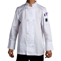 Chef Revival J049-M Cool Crew Size 42 (M) White Customizable Poly-Cotton Long Sleeve Chef Jacket