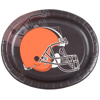 Creative Converting 316651 Cleveland Browns 10 inch x 12 inch Oval Paper Platter - 96/Case