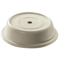 Cambro 124VS101 Versa Antique Parchment Camcover 12 1/4 inch Round Plate Cover - 12/Case