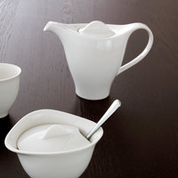 Villeroy & Boch 16-3293-0220 Dune 10.25 oz. White Porcelain Coffeepot with Lid - 6/Case