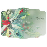 Hoffmaster 311120 10 inch x 14 inch Holly Greetings Paper Placemat   - 1000/Case
