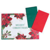 Hoffmaster 856794 10 inch x 14 inch Merry Christmas Placemat Combo Pack   - 250/Case