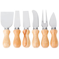6-Piece Cheese Knife Set with Wooden Handles
